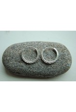 Sterling Hoops w/ Decoration, 1.5cm, Hill Tribe, Thailand