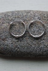 Sterling Hoops W/ Decoration - 1.25cm, Hill Tribe, Thailand