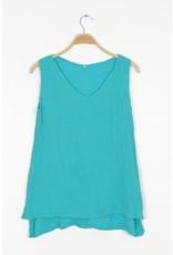 Cotton Tank Top, Turquoise  L/XL, Thailand