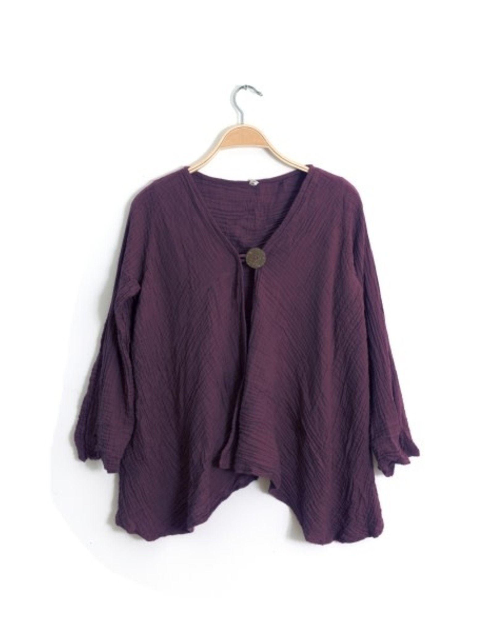 One Button Jacket, Mulberry L/XL, Thailand