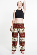 Elephant Bliss Red Harem Pants, Thailand
