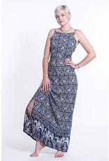 Tie Back Maxi Dress, Petit Elephant Navy, India