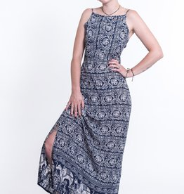 Tie Back Maxi Dress, Petit Elephant Navy, India