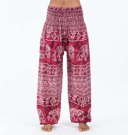 Women's Elephant Pants Marble Red