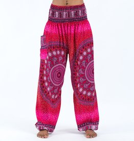 Tribal Chakras Pink Harem Pants