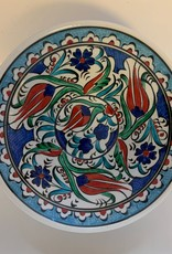 "6"" Hand Painted Iznik Ceramic Bowl, Blue"
