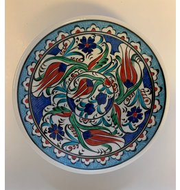 "6"" Hand Painted Iznik Ceramic Bowl, Blue"