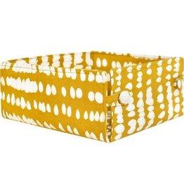 Button Basket, Monsoon Mustard, Large