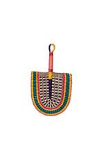 Woven Grass Colorful Fan, Ghana