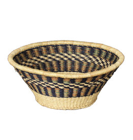 Woven Grass Fruit Basket, Ghana