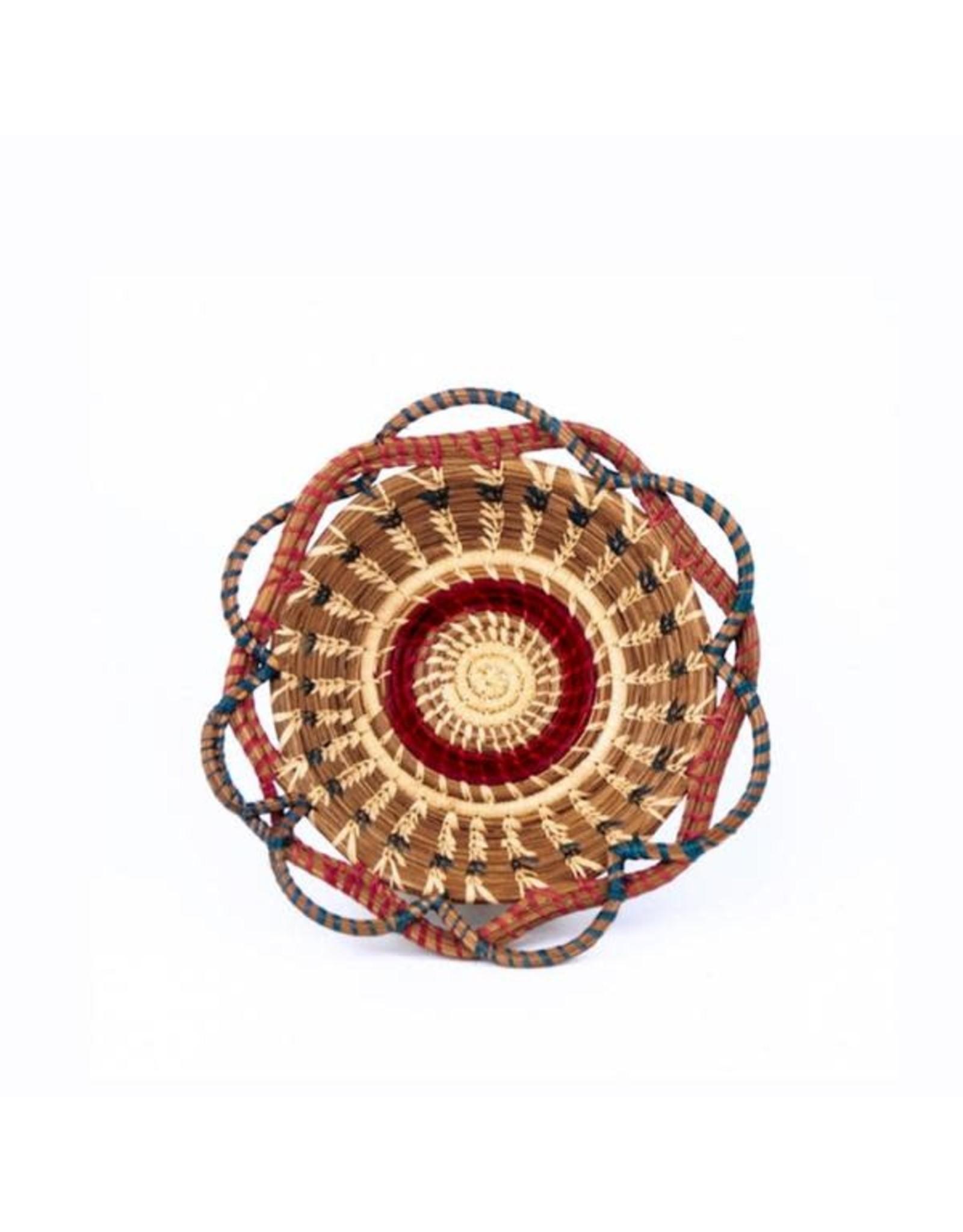 """Medium Noelia Basket 9"""" Raffia and Pine Needle, Guatemala,"""