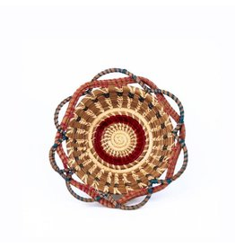 "Medium Noelia Basket 9"" Raffia and Pine Needle, Guatemala,"