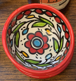 Hand Painted Dipping Bowl, Red