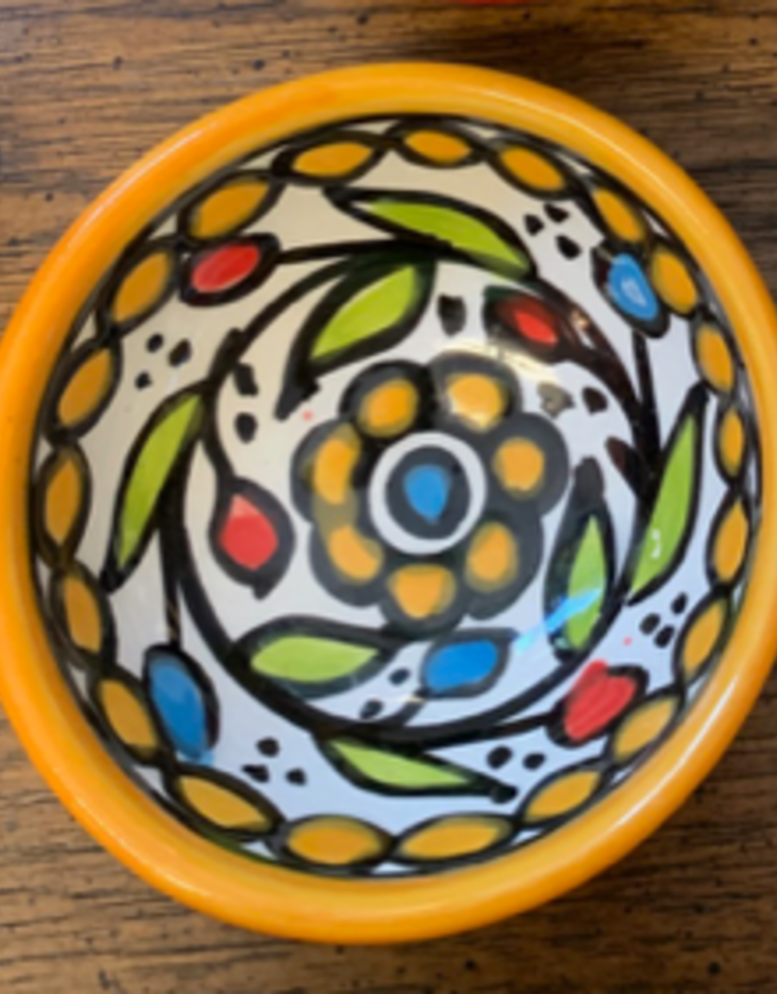 Hand Painted Dipping Bowl, Yellow