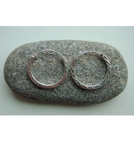Sterling Hoops w/ Decoration 2cm, Hill Tribe, Thailand