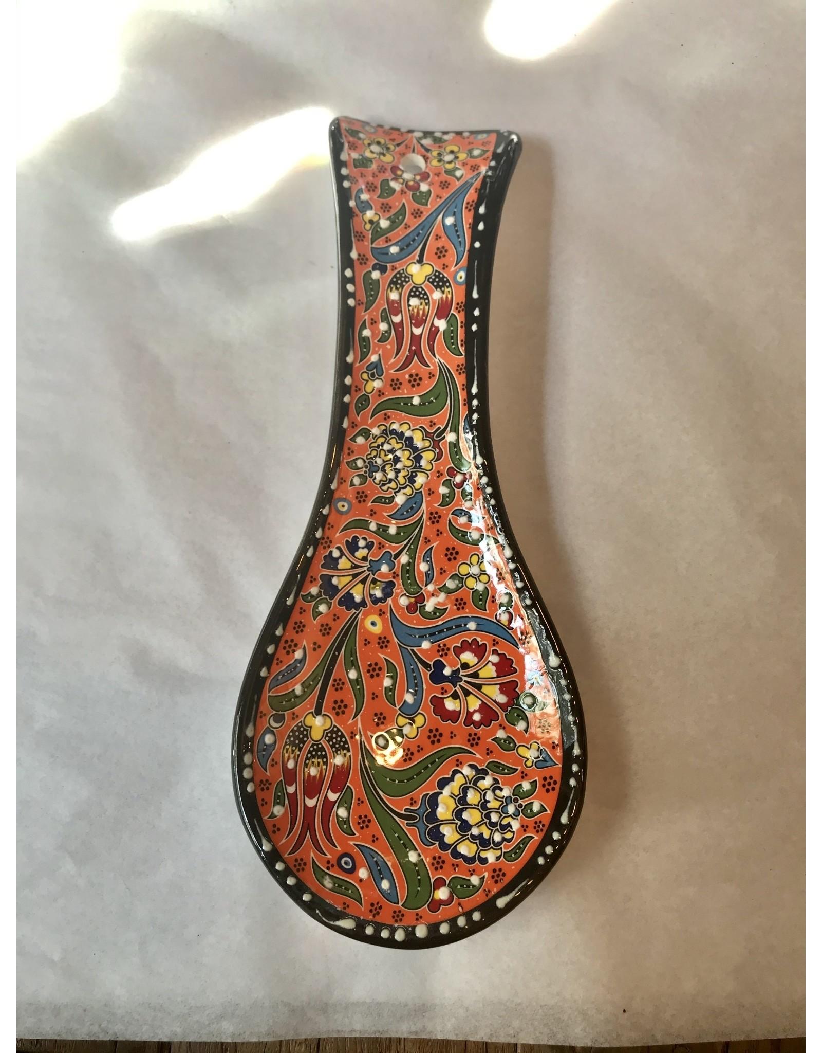 Ceramic Spoon Holder, Orange