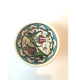"3"" Hand Painted Iznik Bowl, Turquoise Tones"