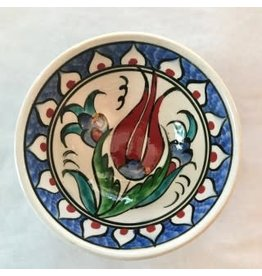 "3"" Hand Painted Iznik  Bowl, Royal Blue Tones"