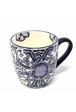 Encantada Blue Flower Mug, Mexico