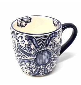 Encantada Blue Flower Mug, Mexico