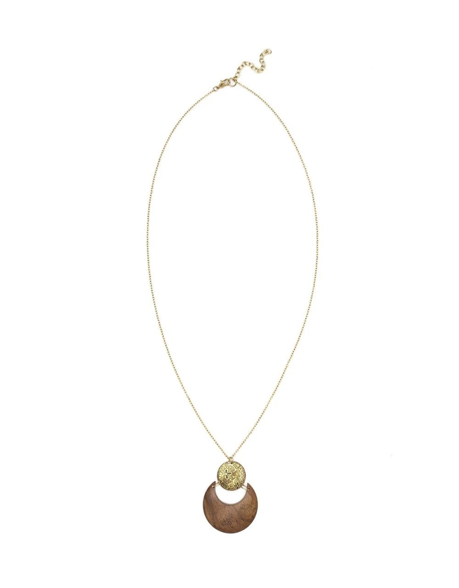 Earth and Fire Lunar Necklace, India