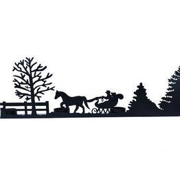 Christmas Silhouette Candle Holder, Large