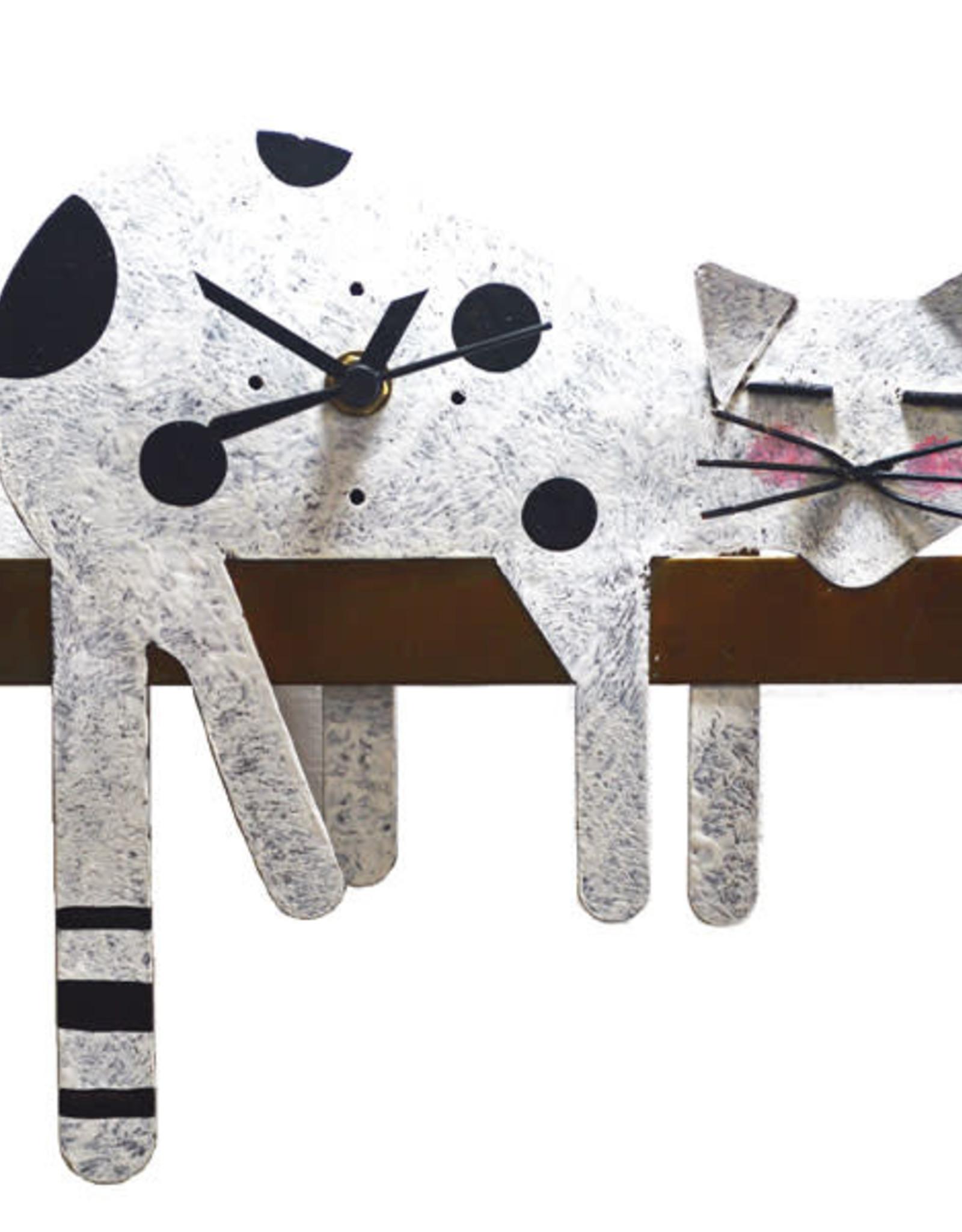 Silly Clocks Sleepy Cat, White, Colombia