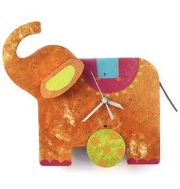 Silly Clocks Elephant, Orange, Columbia