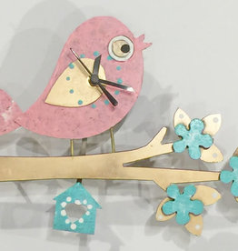 Silly Clocks Tweety Bird on Branch, Pink, Colombia