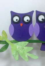 Silly Clocks Love Owls, Purple, Colombia