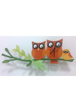 Silly Clock Love Owls, Orange, Colombia