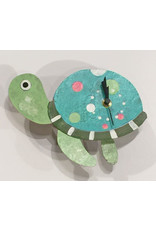 Silly Clocks Turtle, Teal, Colombia