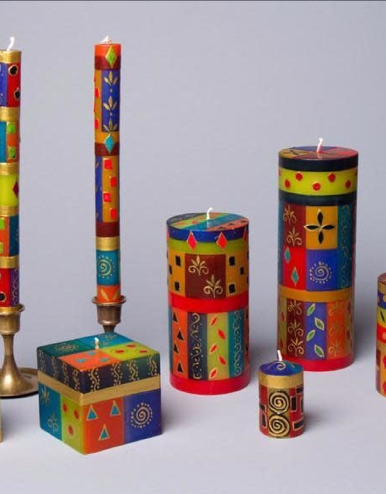 African Mineral Votive Candles, Set of 6