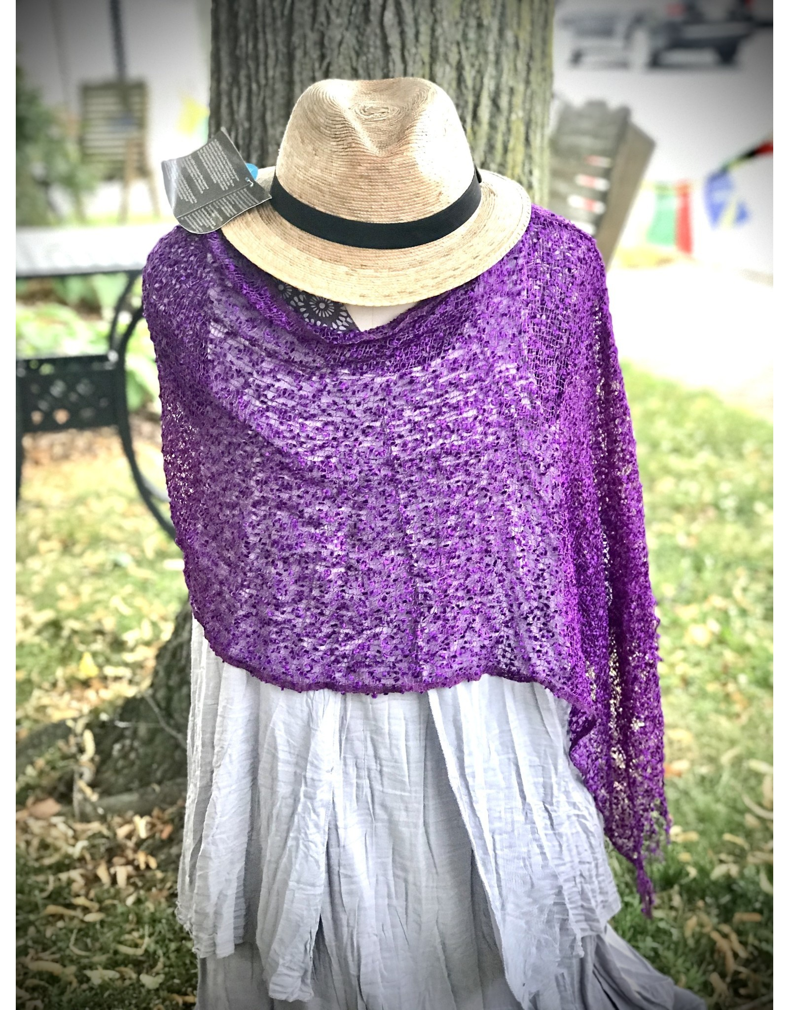 Shrug,  Deep Purple, Wear 5 Ways!