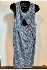 Printed Paisley Knit Dress, Blue, Nepal