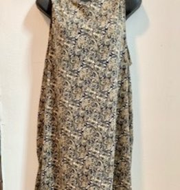 Printed Paisley Knit Dress, Brown, Nepal