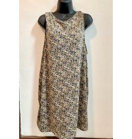 Printed Paisley Knit Dress, Brown, Nepal