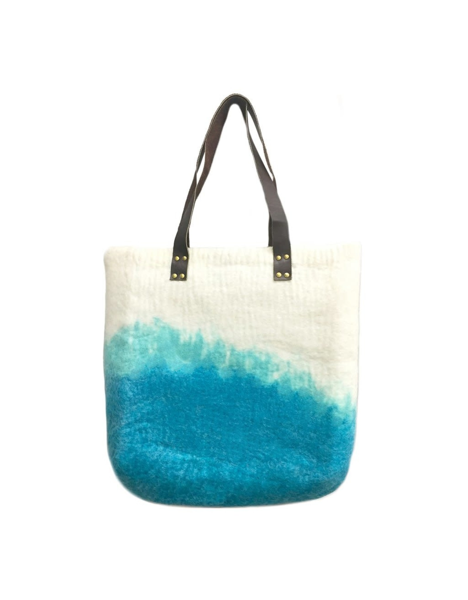 Nepal, Felt TOTE w/ Leather Handle Riviera