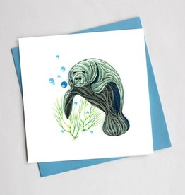 Manatee Quill Card