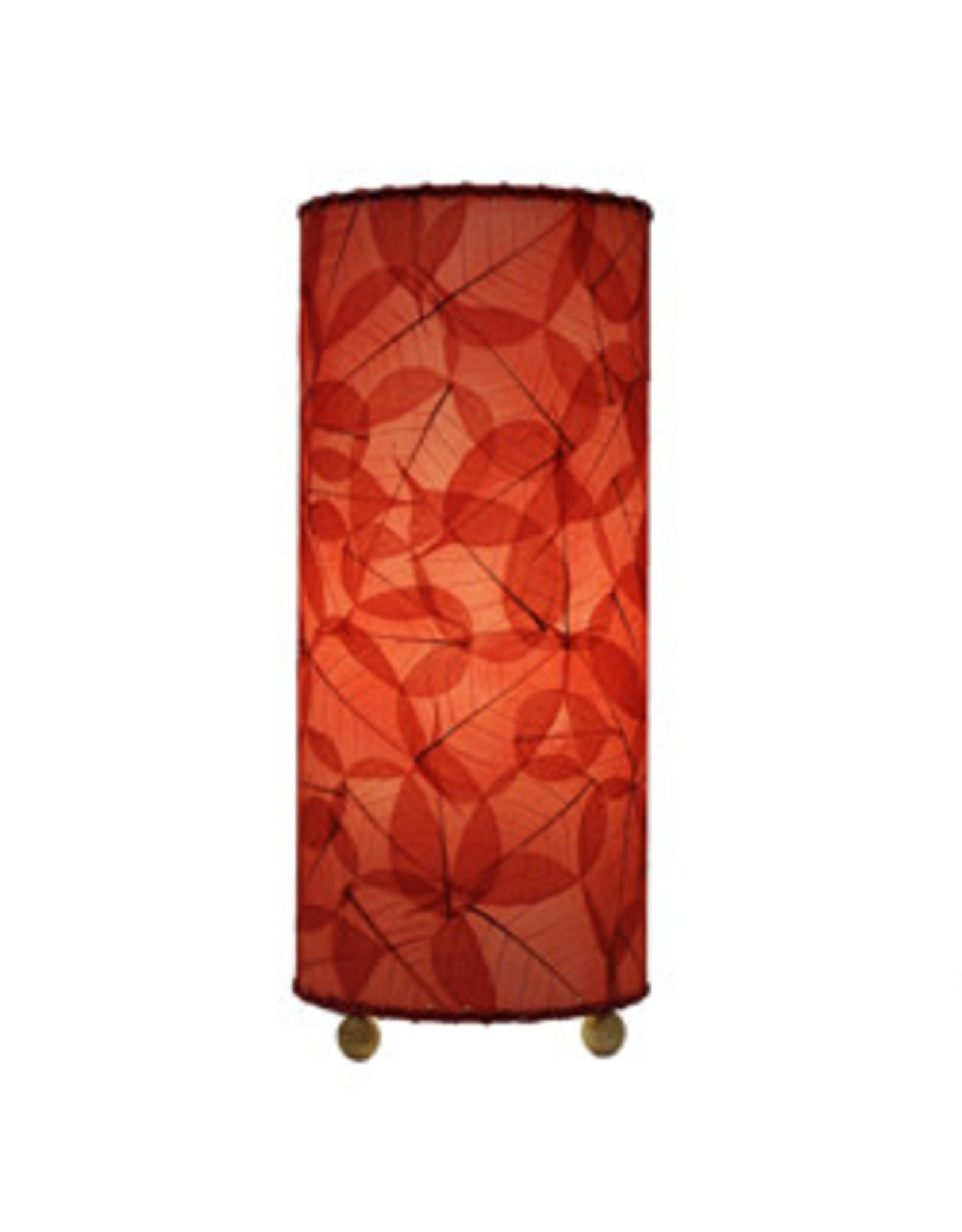 Banyan Leaf Table Lamp, Red, Philippines