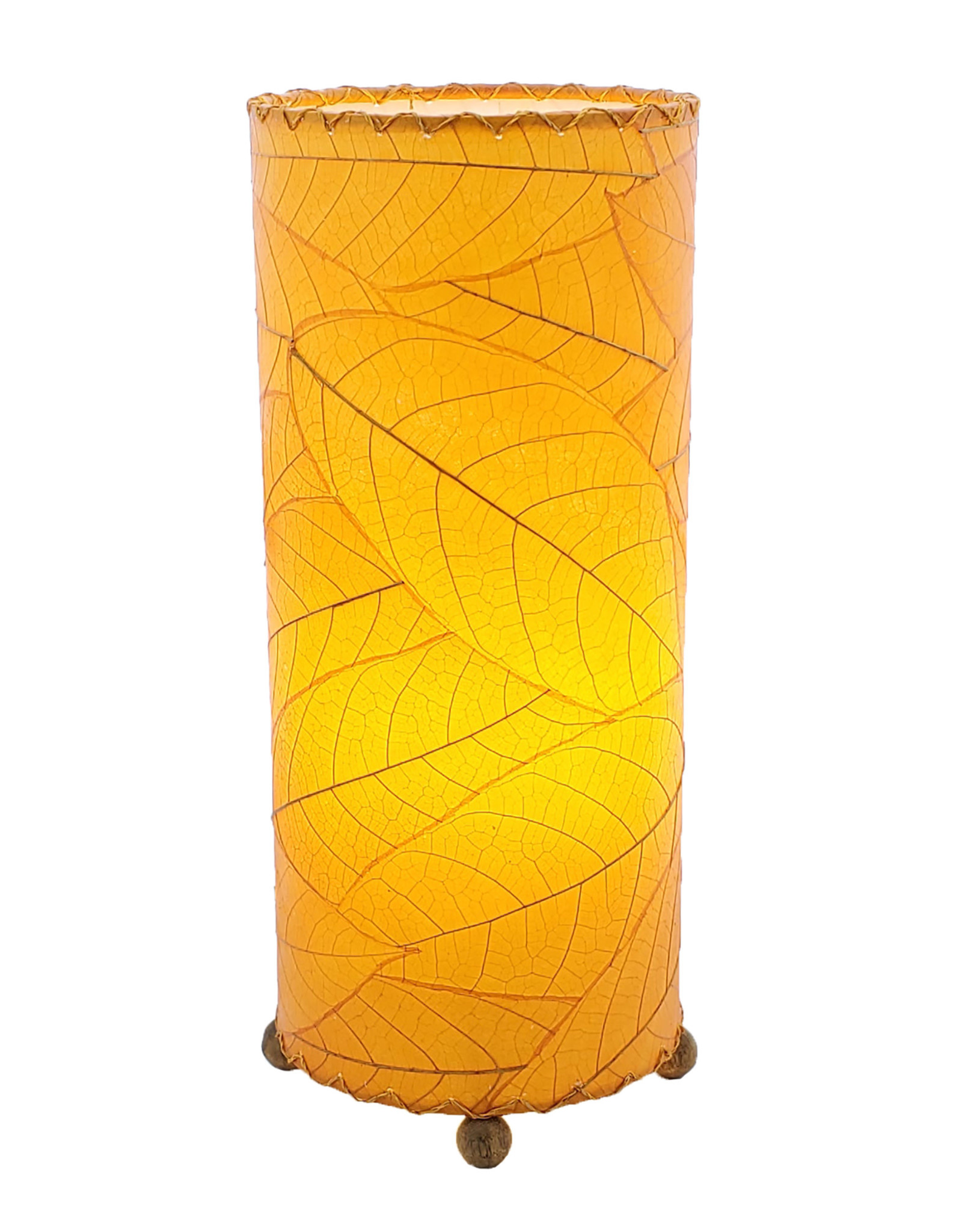 Cocoa Leaf  Cylinder Lamp, Sea Blue, Philippines