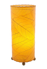 Cocoa Leaf Cylinder Lamp, Green, Philippines