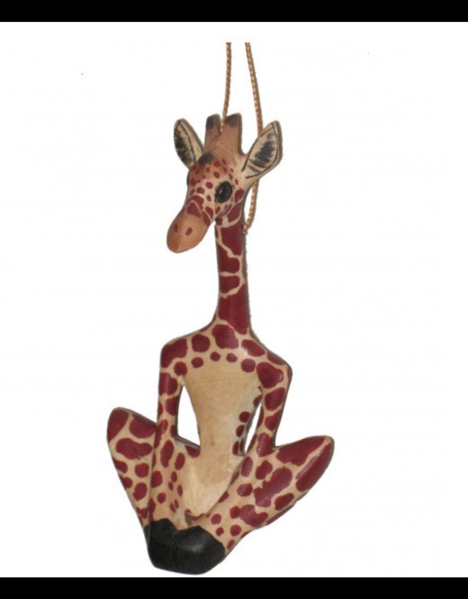 Yoga Giraffe Ornament, Kenya