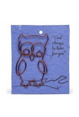 Wire Card Bookmark Owl, India