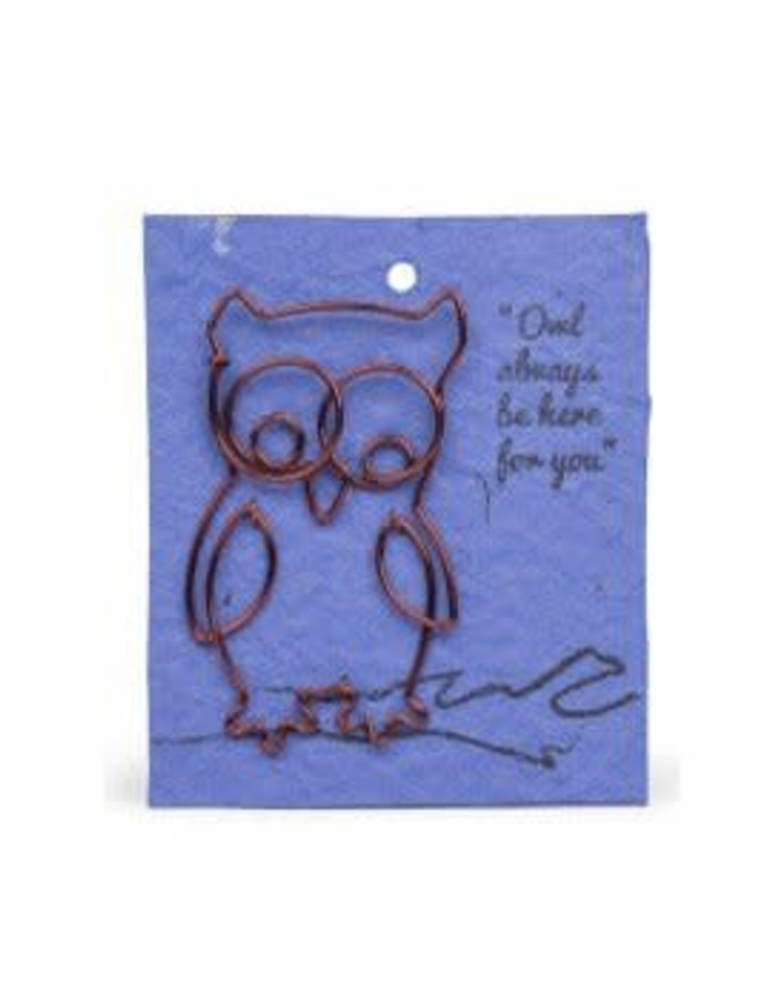 Wire Card Bookmark Owl