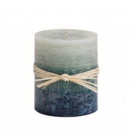 feb19 Honduras, Sea Glass Ombre Candle