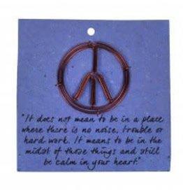 Card Bookmark peace sign