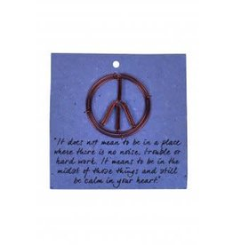 Card Bookmark Peace Sign, India