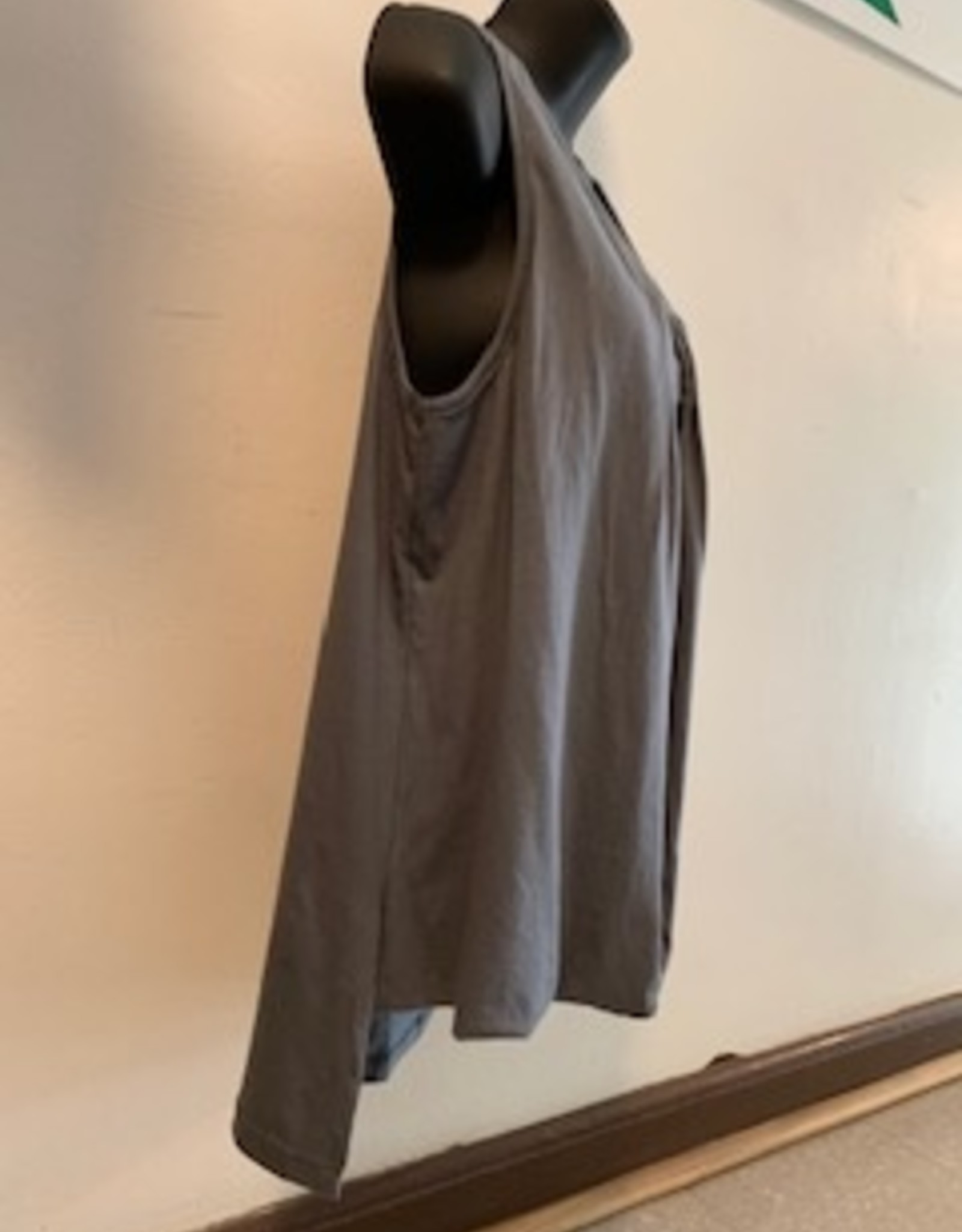 Cotton Tank Top, Gray, Nepal