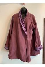 Nepal, Fleece Jacket Plum w/ Pattern